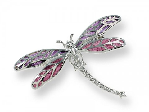 Silver Enamel Dragonfly Brooch View Magazine Competition Prize