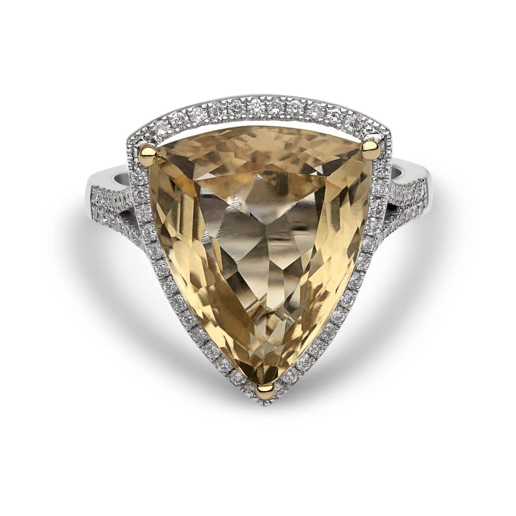 "The ""Anita"" Smoky Topaz ring by Chalfen of London"