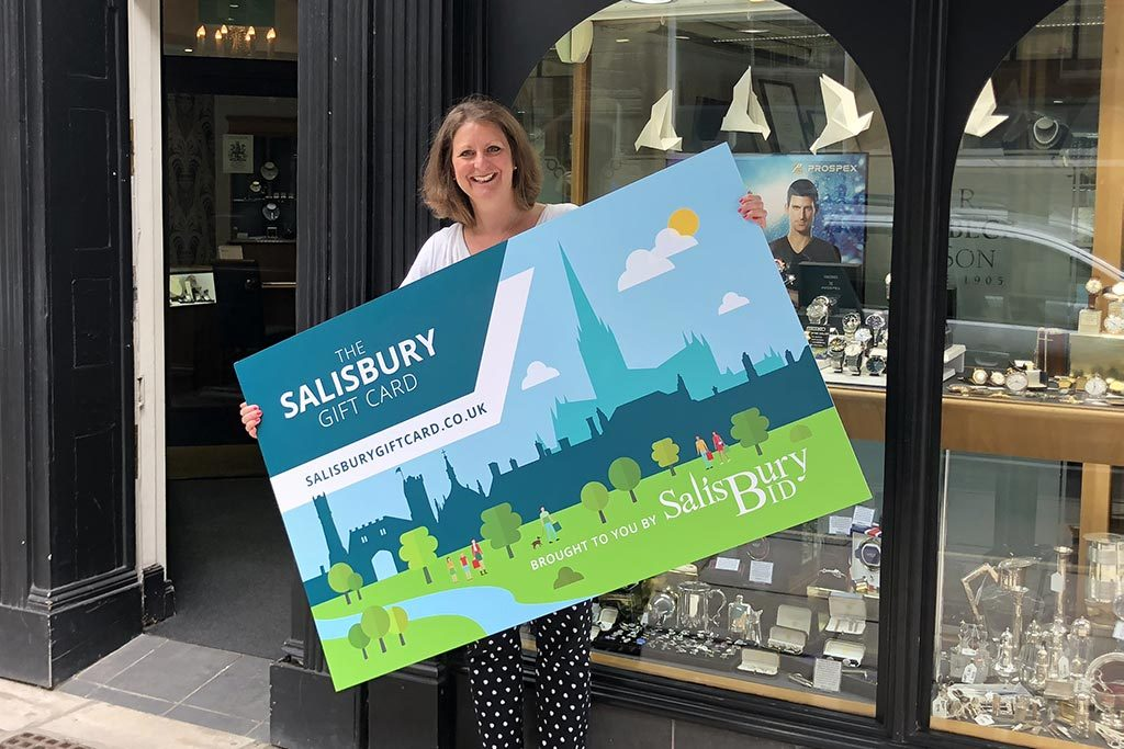 Rachel Tribbeck launches Salisbury Gift Card in store